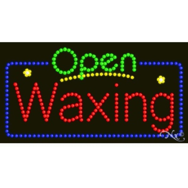 "LED Sign - Waxing Open 17""H x 32""W x 1""D (25414)"