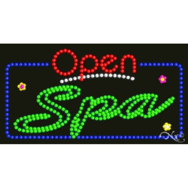 "LED Sign - Spa Open 17""H x 32""W x 1""D (25572)"