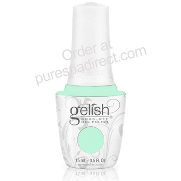 Gelish Color Coat: Seafoam 0.5oz. - 15mL. - Gelish Soak Off Gel Nail Polish (01341)