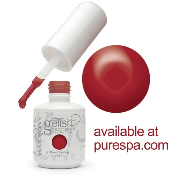 Gelish Color Coat: Red Roses 0.5oz. - 15mL. - Gelish Soak Off Gel Nail Polish (01343)