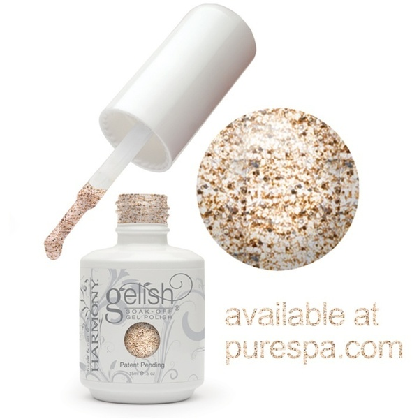 Gelish Color Coat: Golden Treasure 0.5oz. - 15mL. - Gelish Soak Off Gel Nail Polish (01354)
