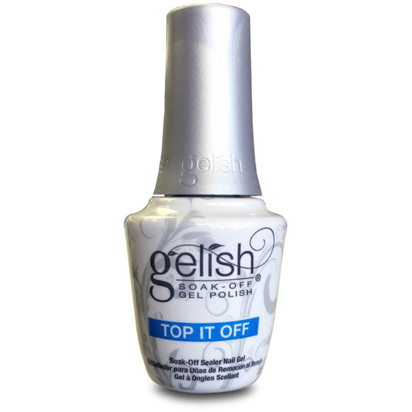 Gelish Top Coat: TOP-IT-OFF Sealer 0.5oz. - 15mL. (19-4012)