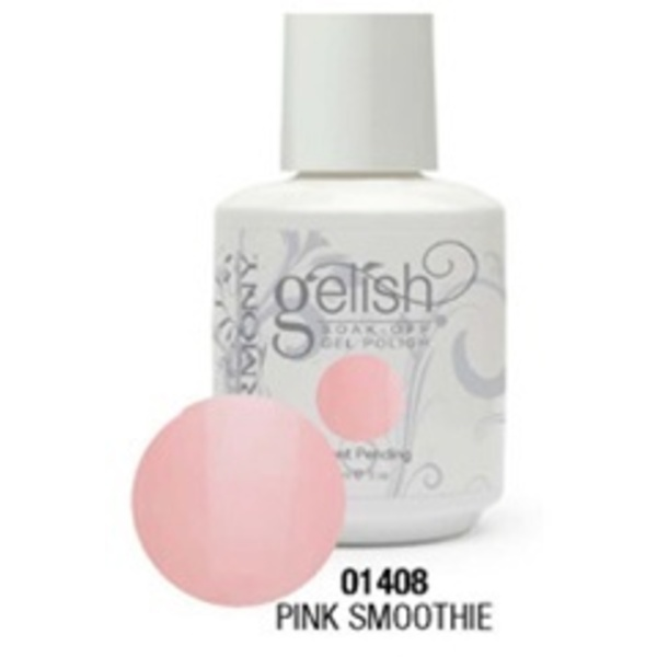 Gelish Color Coat: Pink Smoothie / 0.5 oz. - 15 mL. - Gelish Soak Off Gel Nail Polish by Nail Harmony <font color=#FFFFFF>(01408)</font>