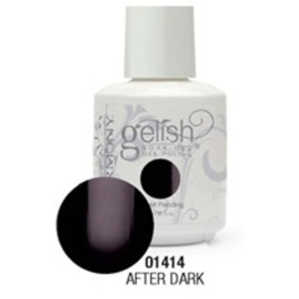 Gelish Color Coat: After Dark / 0.5 oz. - 15 mL. - Gelish Soak Off Gel Nail Polish by Nail Harmony <font color=#FFFFFF>(01414)</font>