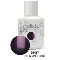Gelish Color Coat: Plum And Done / 0.5 oz. - 15 mL. - Gelish Soak Off Gel Nail Polish by Nail Harmony <font color=#FFFFFF>(01417)</font>