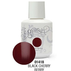 Gelish Color Coat: Black Cherry Berry / 0.5 oz. - 15 mL. - Gelish Soak Off Gel Nail Polish by Nail Harmony <font color=#FFFFFF>(01418)</font>