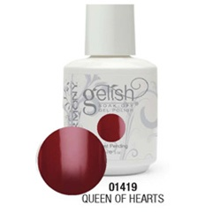 Gelish Color Coat: Queen Of Hearts / 0.5 oz. - 15 mL. - Gelish Soak Off Gel Nail Polish by Nail Harmony <font color=#FFFFFF>(01419)</font>