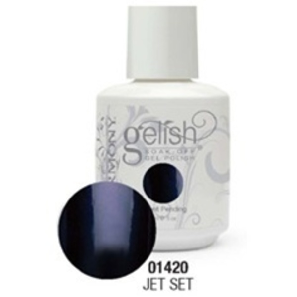 Gelish Color Coat: Jet Set / 0.5 oz. - 15 mL. - Gelish Soak Off Gel Nail Polish by Nail Harmony <font color=#FFFFFF>(01420)</font>