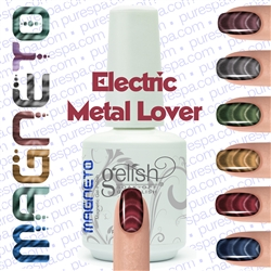 Gelish Magneto Collection - Electric Metal Lover (Red) Gelish + Matching Lacquer Kit