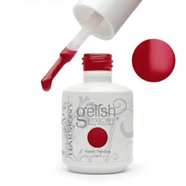 Gelish Color Coat: Red-Y For The Festival 0.5oz. - 15mL. - Gelish Soak Off Gel Nail Polish by Nail Harmony (#01588)