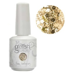 Gelish Color Coat: All That Glitters Is Gold 0.5oz. - 15mL. - Gelish Soak Off Gel Nail Polish by Nail Harmony (#01854)