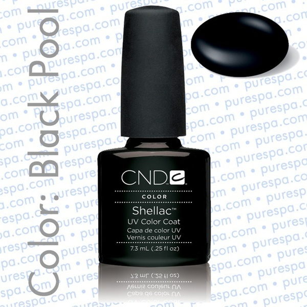 Pre-Order: CND Shellac Black Pool 0.25 oz. - 7.3 mL - The 14 Day Manicure is Here! (682)