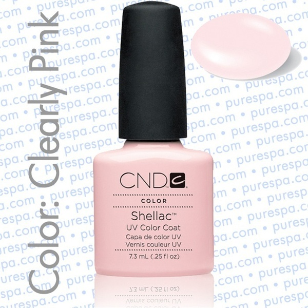 Pre-Order: CND Shellac Clearly Pink 0.25 oz. - 7.3 mL - The 14 Day Manicure is Here! (683)
