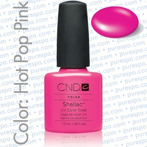 Pre-Order: CND Shellac Hot Pop Pink 0.25 oz. - 7.3 mL - The 14 Day Manicure is Here! (688)