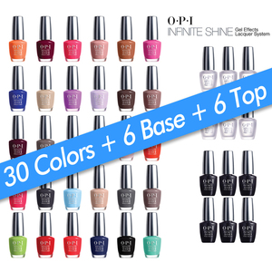 OPI Infinite Shine - Air Dry 10 Day Nail Polish - 42 Piece Starter Bundle ()