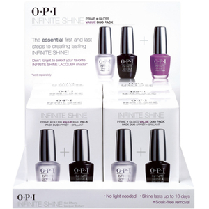OPI Infinite Shine - Air Dry 10 Day Nail Polish - Treatment Duo's Set 6 - ISD03 (ISD03)