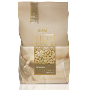 ItalWax Film Wax - White Chocolate - Hard Stripless Wax Beads from Italy 2.2 lbs. - 1 kg. Bag (FILM-WHITE CHOCOLATE-HARD-2.2 LB.BAG X 1)