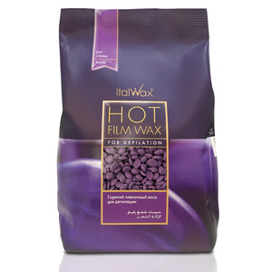 ItalWax Film Wax - Plum - Hard Stripless Wax Beads from Italy 2.2 lbs. - 1 kg. Bag (FILM-PLUM-HARD-2.2 LB.BAG X 1)