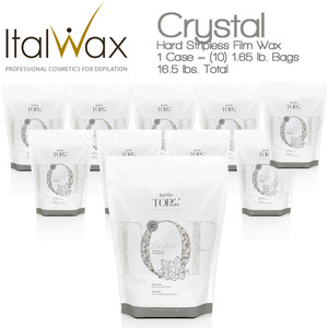 ItalWax Top Formula Synthetic Film Wax - Crystal - Hard Stripless Wax Beads from Italy 1 Case = (10) 1.65 lb. Bags = 16.5 lbs. Total (FILM-CRYSTAL-HARD-1.65LB.BAG X 10)