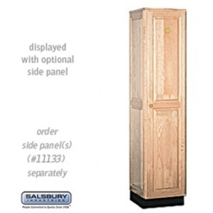 "Single Tier Solid Oak Executive Locker - 1 Locker Wide X 6' High X 18"" Deep - Light Oak (11168LGT)"