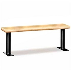 "Wood Locker Bench - 72"" Wide - Light Finish (77786LGT)"