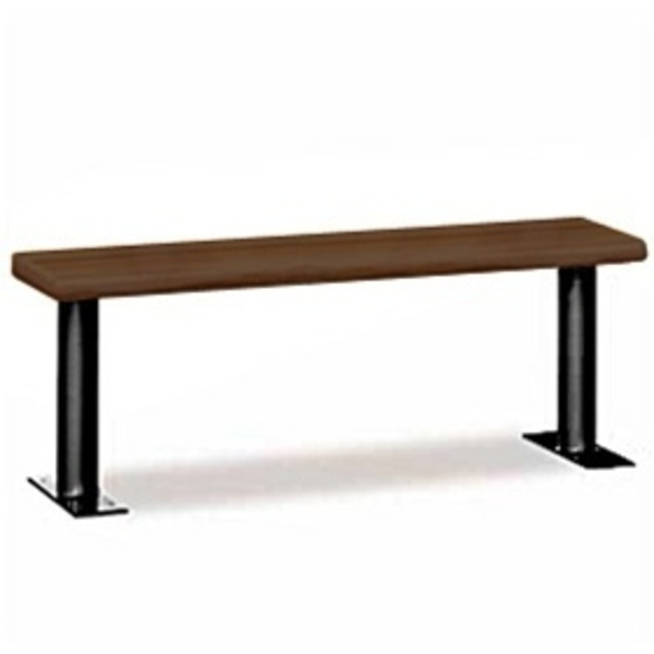 "Wood Locker Bench - 48"" Wide - Dark Finish (77784DRK)"