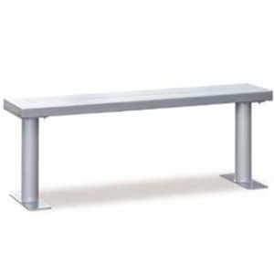 "Aluminum Locker Bench - 72"" Wide (77776)"