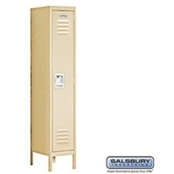"Single Tier Standard Locker - 1 Locker Wide - 5' High X 15"" Deep"