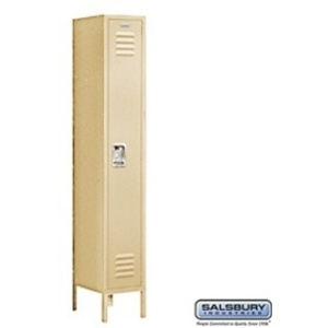 "Single Tier Standard Locker - 1 Locker Wide - 6' High X 12"" Deep"