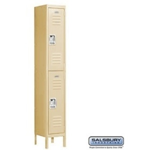 "Double Tier Standard Locker - 1 Locker Wide - 6' High X 15"" Deep"