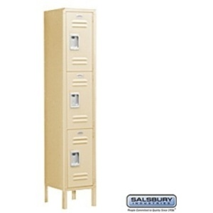 "Triple Tier Standard Locker - 1 Locker Wide - 5' High X 15"" Deep"