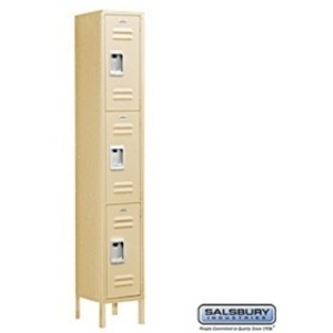 "Triple Tier Standard Locker - 1 Locker Wide - 6' High X 12"" Deep"