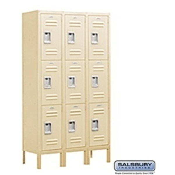 "Triple Tier Standard Locker - 3 Lockers Wide - 5' High X 18"" Deep"