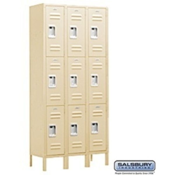 "Triple Tier Standard Locker - 3 Lockers Wide - 6' High X 18"" Deep"