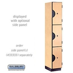 "Triple Tier Designer Locker - 1 Locker Wide - 6' High X 18"" Deep"
