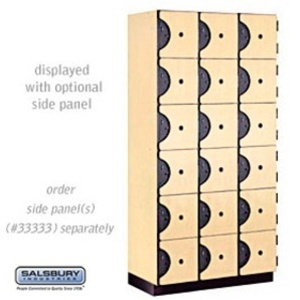 "Six Tier Box Style Designer Locker - 3 Lockers Wide - 6' High X 18"" Deep"