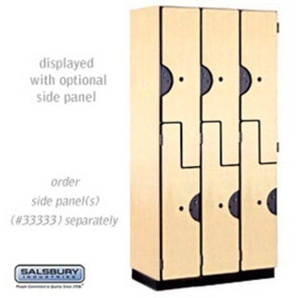 "Double Tier ""S"" Style Designer Locker - 3 Lockers Wide - 6' High X 18"" Deep"
