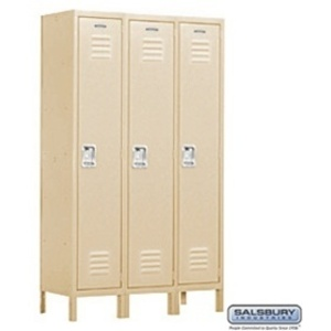 "Extra Wide Standard Locker - Single Tier - 3 Lockers Wide - 6' High - 15"" Deep"