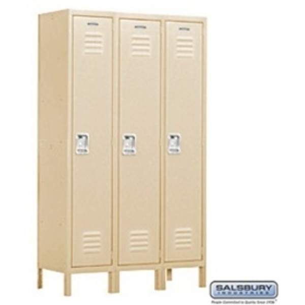 "Extra Wide Standard Locker - Single Tier - 3 Lockers Wide - 6' High - 18"" Deep"