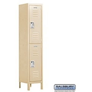 "Extra Wide Standard Locker - Double Tier - 3 Locker Wide - 6' High X 15"" Deep"