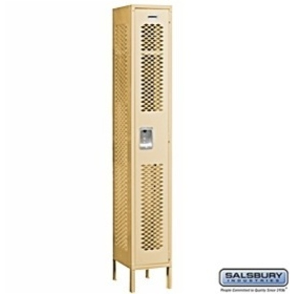 "Vented Locker - Single Tier - 1 Locker Wide - 6' High - 18"" Deep"