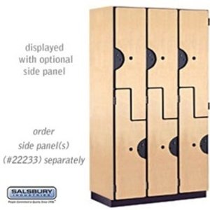 "Double Tier ""S"" Style Extra Wide Designer Locker - 3 Lockers Wide - 6' High - 18"" Deep"