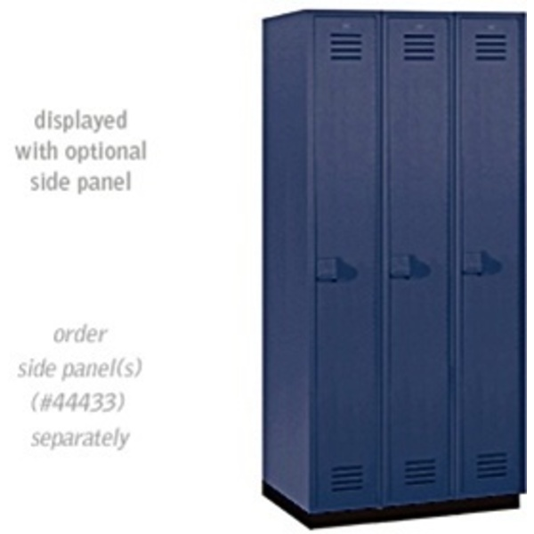 "Single Tier Heavy Duty Plastic Locker - 3 Lockers Wide - 6' High - 18"" Deep"