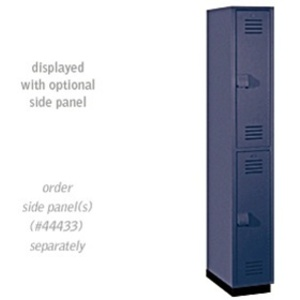 "Double Tier Heavy Duty Plastic Locker - 1 Locker Wide - 6' High - 18"" Deep"
