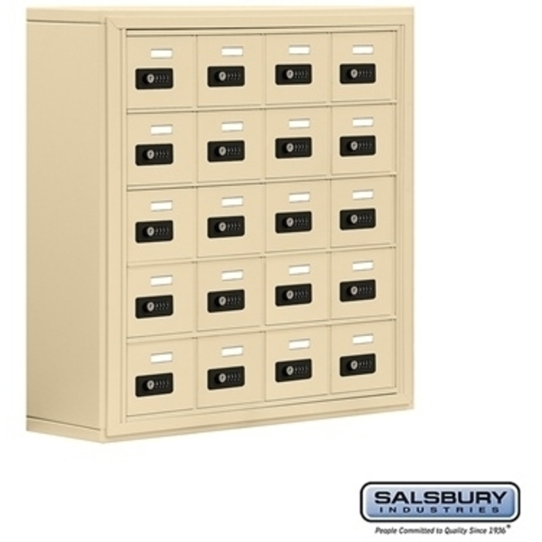 "Cell Phone Storage Locker - 20  ""A"" Doors - Door Size: 6.5""W x 5.25""H / Resettable Combination Locks"