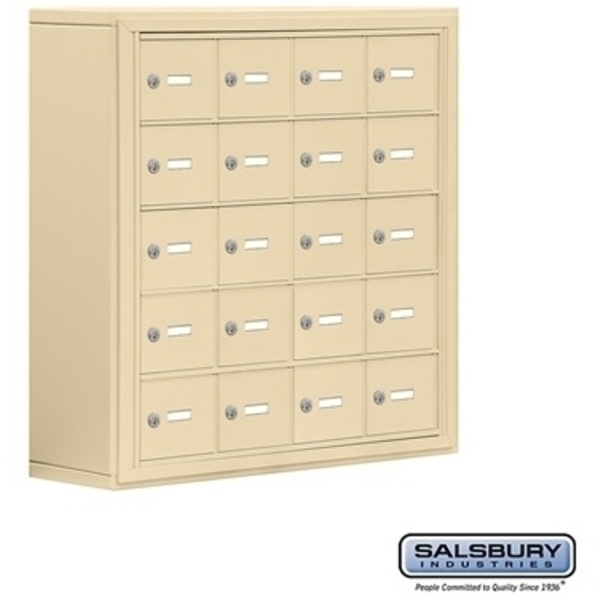 "Cell Phone Storage Locker - 20  ""A"" Doors - Door Size: 6.5""W x 5.25""H / Master Keyed Locks"