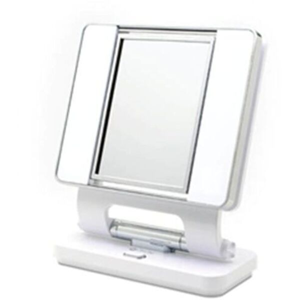 White Dual Sided Make-Up Mirror (B92003)