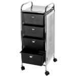 Utility Cart with 4 Drawers - Metal Frame with Mesh Side Panels (D27)