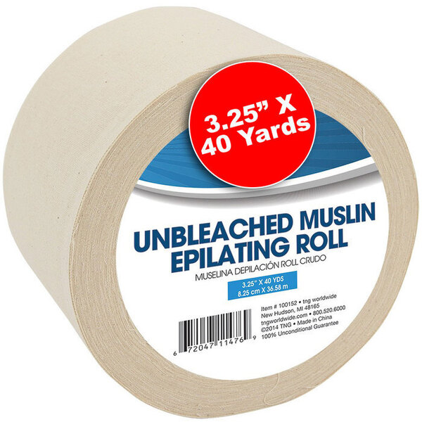 "Unbleached Natural Muslin Roll 3.25"" x 40 Yards (100152)"
