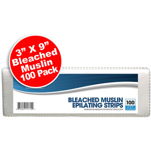 "Bleached Muslin Epilating Strips - 3"" x 9"" 100 Pack (100211)"